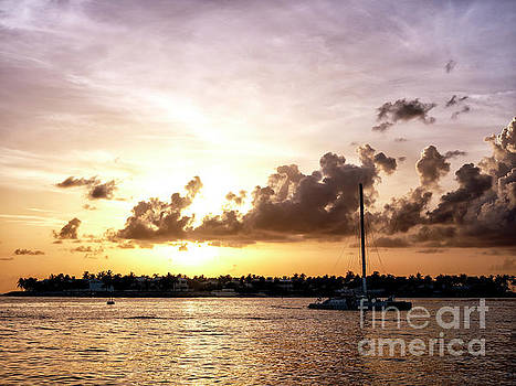 John Rizzuto - Key West Sailboat at Sunset