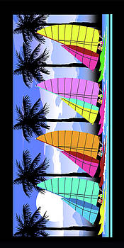 Sailboat Beach Towel  by Jose Renan Herrera