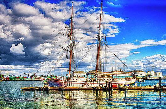 Sailboat Docked by Joseph Hollingsworth