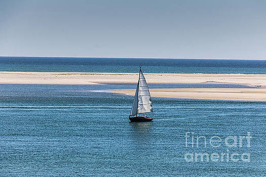 Sailboat in Chatham Harbor by Thomas Marchessault