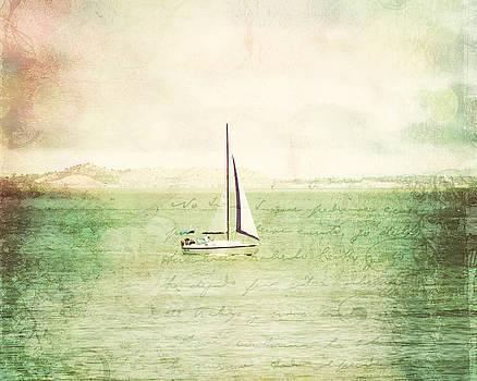 Sailboat in San Francisco Bay by Ken Reardon