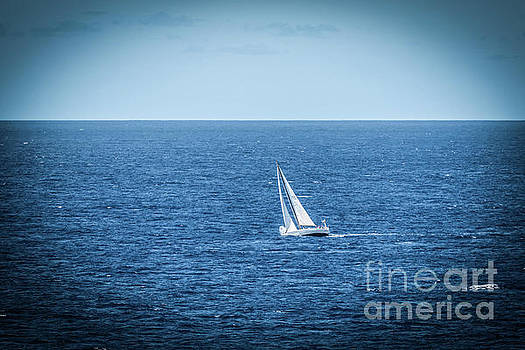 Sailboat in the Caribean by Thomas Marchessault