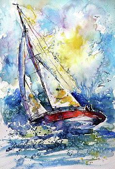Sailboat in the wind II by Kovacs Anna Brigitta
