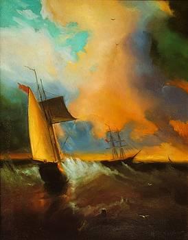 Sailboat by Michael Chesnakov