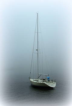 Sailboat on a Foggy Morning by Suzanne DeGeorge
