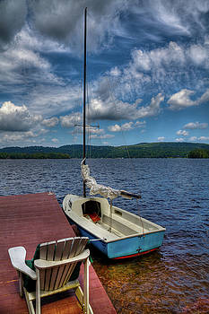 Sailboat on First Lake by David Patterson