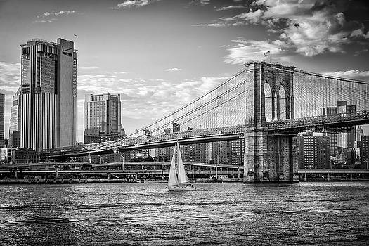 Sailboat on the East River by Frank Mari