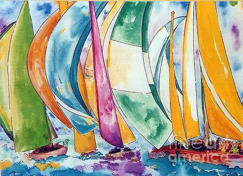 Sailboat Race by Lisa Boyd
