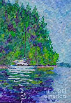 Peggy Johnson - Sailboat Reflection - Miniature Painting