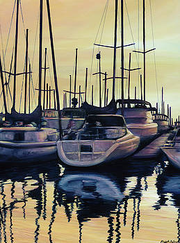 Sailboat Reflections by Elisabeth Sullivan