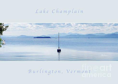 Felipe Adan Lerma - Sailboat Resting Panorama Greeting Card Poster Soft Pale Blue