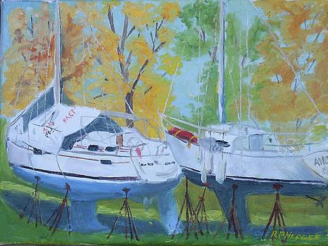Sailboat Sad Times by Robert P Hedden