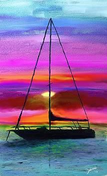 Sailboat silhouette by Deborah Rosier