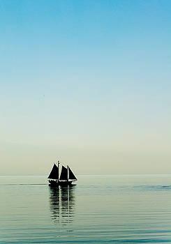 Sailboat Silhouette by Lonnie Paulson