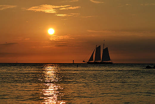 Sailboat Sunset by Ashleigh Mowers