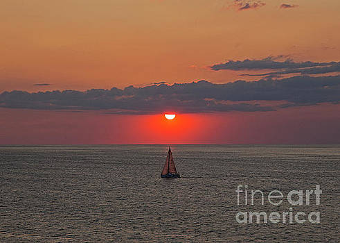Sailboat Sunset by James Guilford