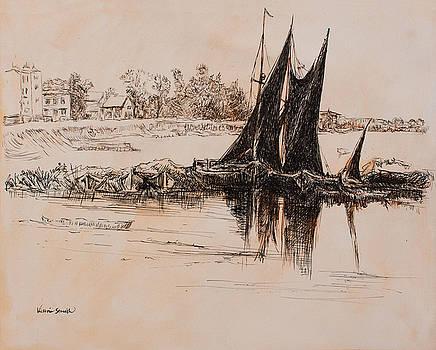 Sailboat by Victoria Stavish