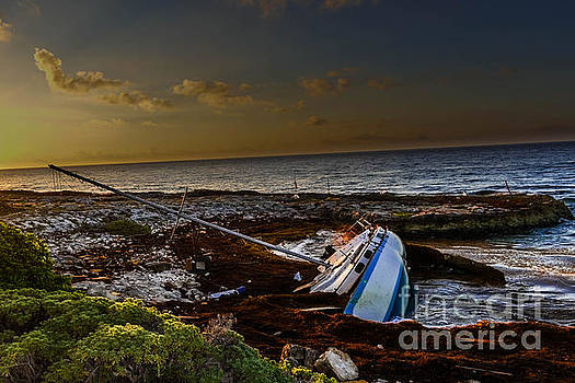 Sailboat Wreck At Eden Pool Cancun by Gary Keesler