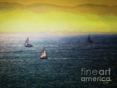 Sailboats  ... by Chuck Caramella