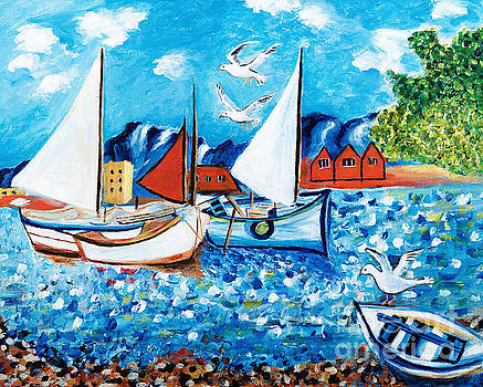 Sailboats by Art by Danielle