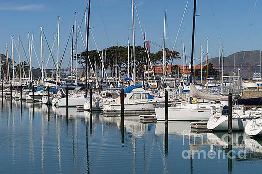 Wingsdomain Art and Photography - Sailboats At St Francis Yacht Club Harbor San Francisco California DSC3107