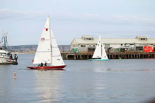 Art Block Collections - Sailboats at Wharf II