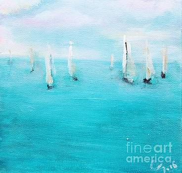 Sailboats  by Chaline Ouellet