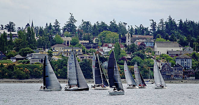 Sailboats in Coupeville by Rick Lawler