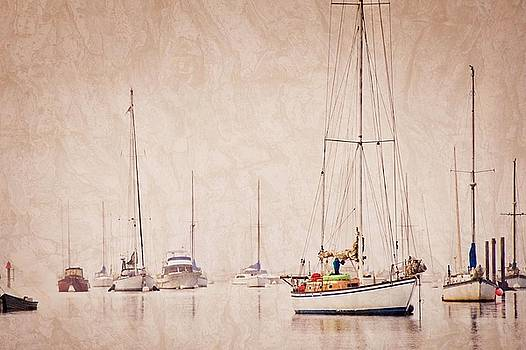 Sailboats in Morro Bay Fog by Flying Z Photography by Zayne Diamond