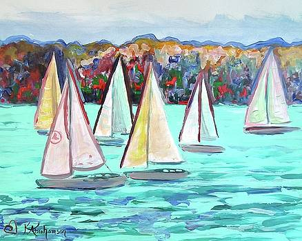 Sailboats in Spain I by Kristen Abrahamson