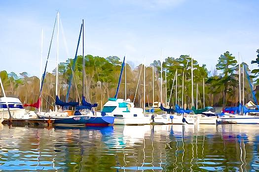 Sailboats in Winter by Charlie and Norma Brock