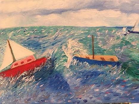 Sailboats Lost in the Gulf post Irma by Susan Grunin