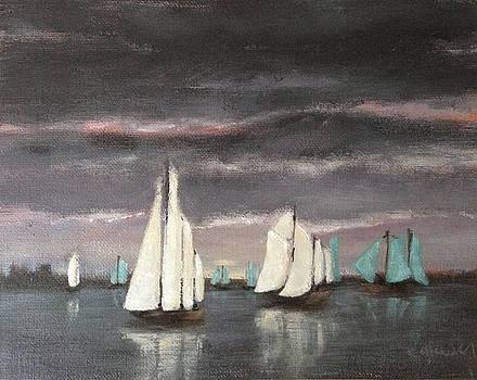 Sailboats on a Stormy Day by Christina Glaser