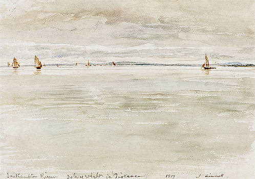 John Linnell - Sailboats on Southampton River