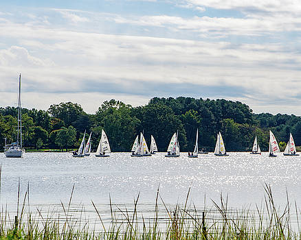 Sailboats on the Chester by SG Atkinson