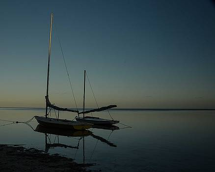 Sailboats, Shadows and Sunset by Maria Suhr