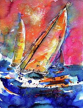 Sailboatstogether by Kovacs Anna Brigitta