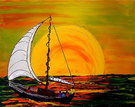 Sailing At Dusk 2 by Portland Art Creations