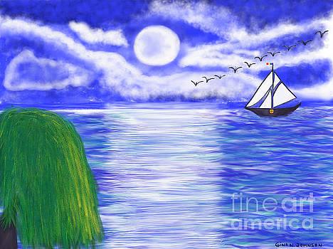 Gina Nicolae Johnson - Sailing at night