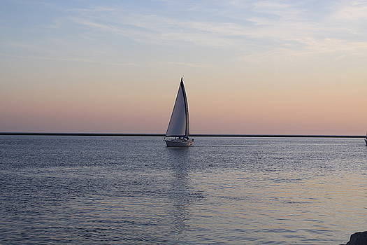 Sailing At Sunset by Chuck Bailey