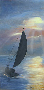 Jeanine Dahlquist - Sailing at Sunset