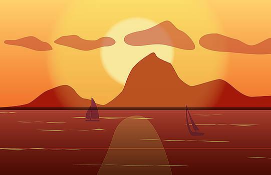 Sailing at Sunset by Kori Jones