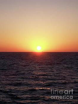 Sailing At Sunset by Phil Perkins