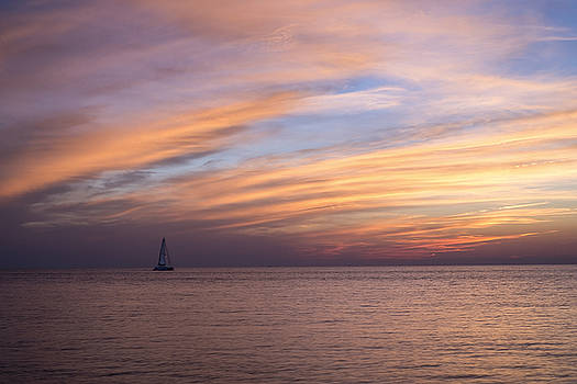 Sailing at Sunset by Shawn Colborn