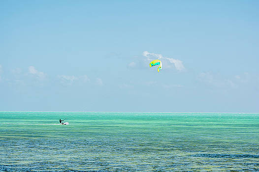 Sailing at the Florida Keys  by Manuel Lopez