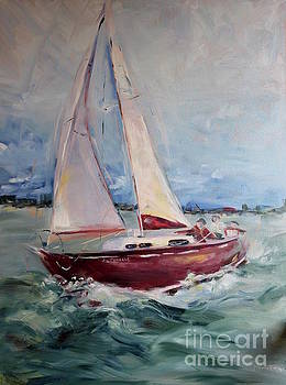 Sailing Away by Maria's Watercolor