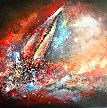 Sailing Beyond The Storm by Germaine Fine Art