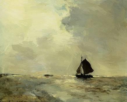 Weissenbruch Johan Hendrik - Sailing Boat In Choppy Seas