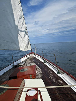 Sailing Bow View by Tony Grider