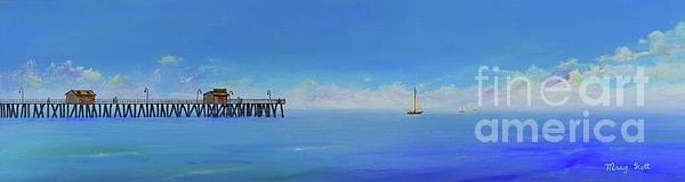 Sailing By San Clemente by Mary Scott